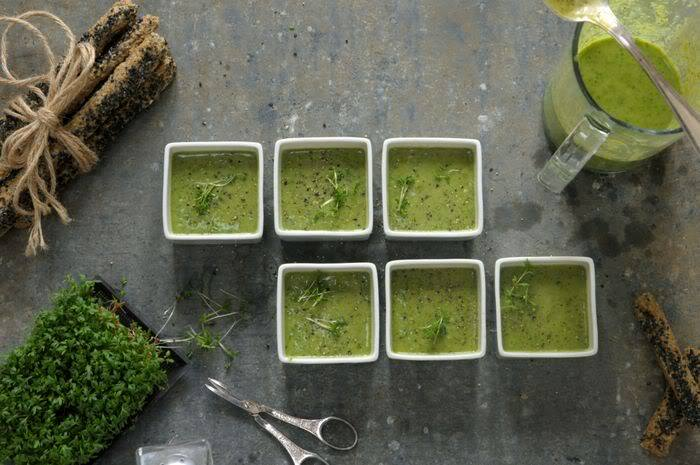 Raw Greenylicious Herb Soup
