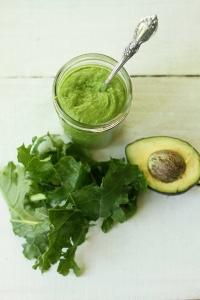 Raw Kale Avocado Pesto